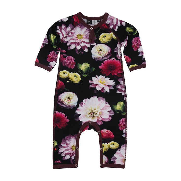 Fiona+Bodysuit/Black+Flowering