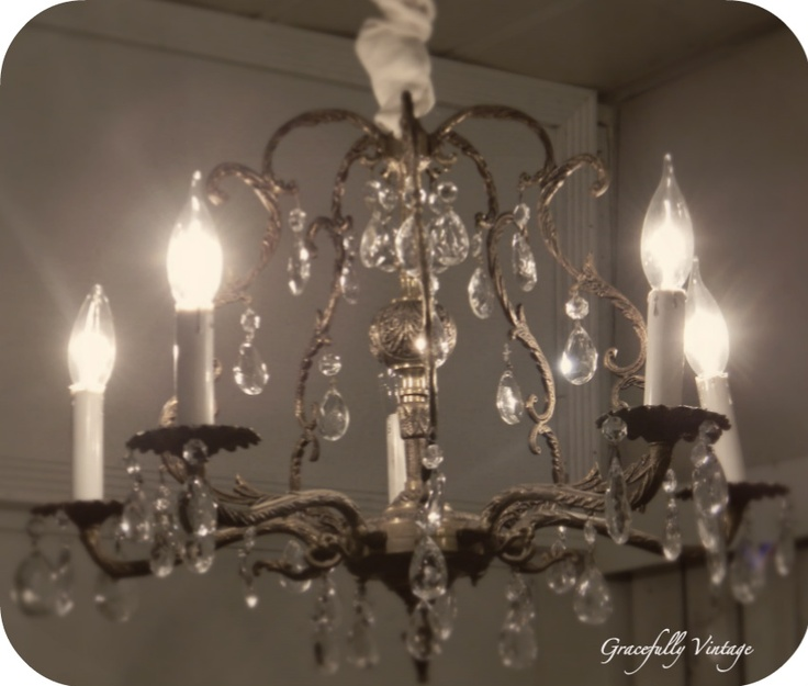 1000 images about Chandeliers vintage crystal and brass on – Like a Chandelier