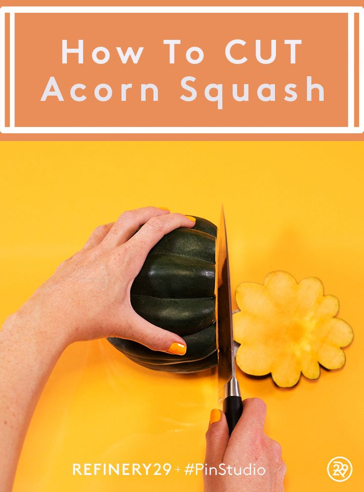How to cut an acorn squash for the best flavor #PinStudio