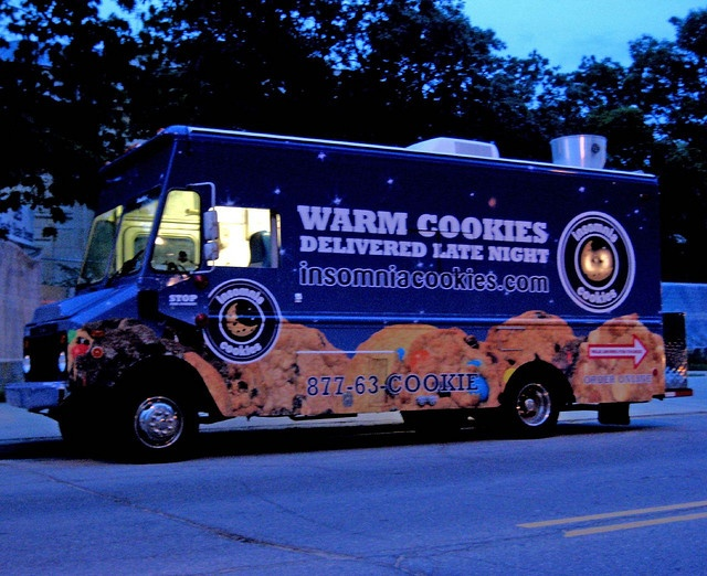 Holy Shit... Insomnia Cookie Truck- located in the south. COME TO CALIFORNIaa