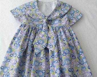 Classic Liberty of London Girls Sailor Dress by LittleMissDressCo