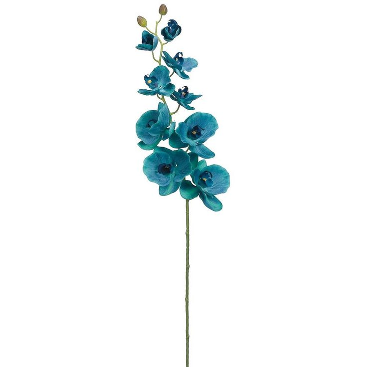 "Phalaenopsis Silk Orchid Spray in Teal<br>42"" Tall"