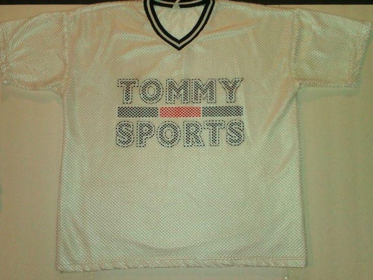 Make offer #Vintage Tommy Sports Net Jersey Shirt Men's SZ XL White Athletic #Hilfiger Sale http://www.ebay.com/itm/-/301445933321?roken=cUgayN&soutkn=BH1yDX #90s #80s #nostalgia
