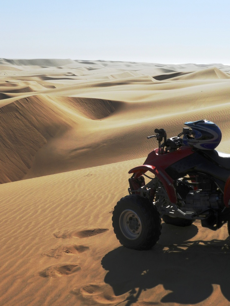 One of the best things I have ever done with my life: Quad bike experience in Swakopmund #Namibia
