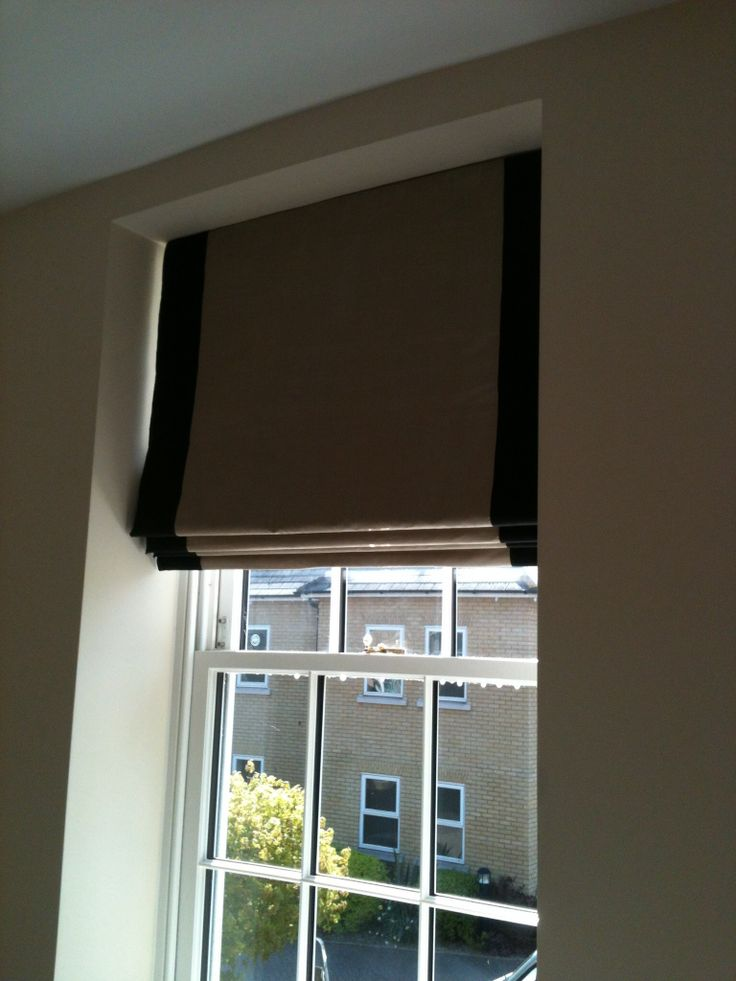 Silk Roman Blinds With Contrast Border My Interior Work