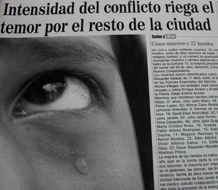 Cinco muertos y 22 heridos contó El Colombiano al inicio de la Operación Orión en su edición del 17 de octubre del 2002.