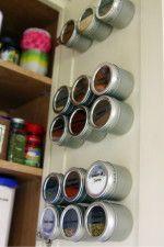 spice cupboard organization - magnetic spice cabinet door