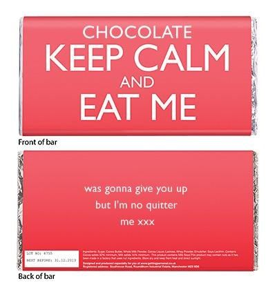 Personalised Chocolate Bar - Keep Calm And Eat Me | Chocolate Bars By Getting Personal