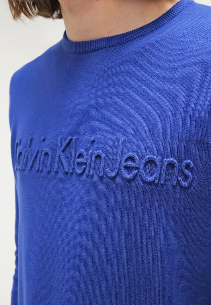 Calvin Klein Jeans SALVO - Pullover - blue - ZALANDO.FR
