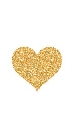 gold glitter heart by Pei
