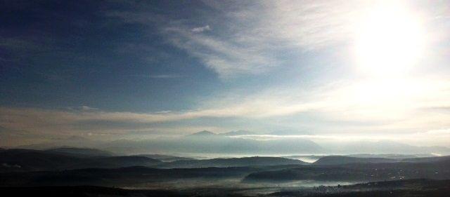 view of the Cretan Lassithi mountains...