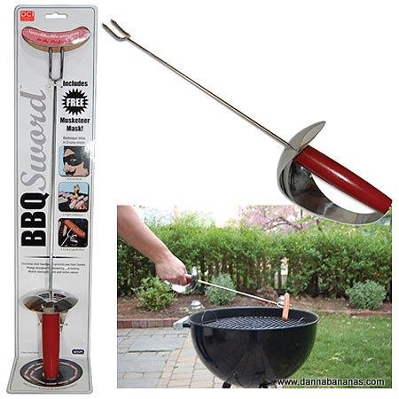 On Guard...won't your Pop love barbequing with the BBQ Sword/
