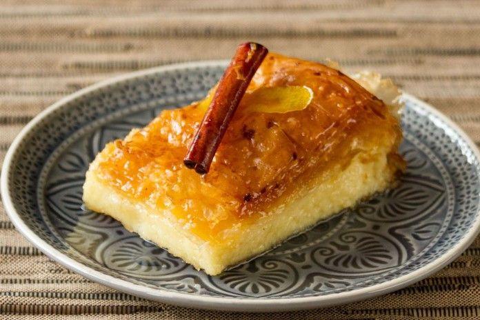 Recipe Of The Week: Galaktomboureko (Custard Pie With Syrup)
