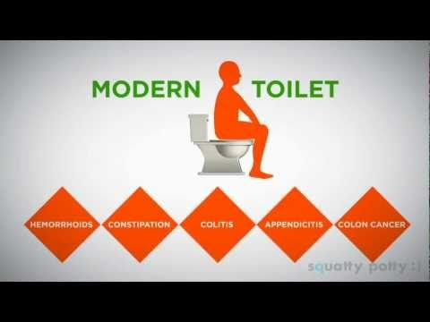 Squatty Potty-Toilet Stool: squatting for proper toilet posture  http://www.youtube.com/watch?feature=player_embedded=pYcv6odWfTM