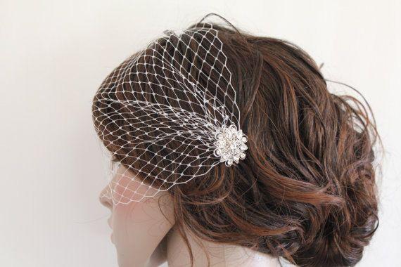 HochzeitsKamm mit Schleier Hochzeitsschleier von Angelbridalshop, $17.00