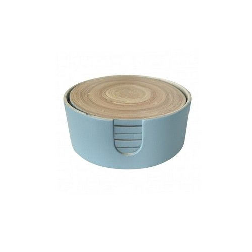 Bamboo Coasters in a Box - Blue RRP $18