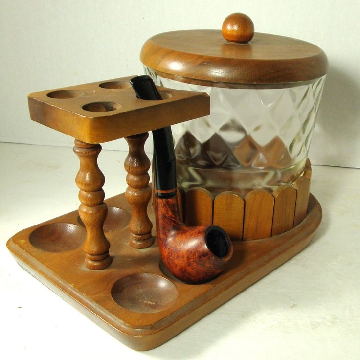 SALE Pipe Stand Tobacco Humidor Pipe holder by VintageStarrBeads. $19.95 USD, via Etsy.