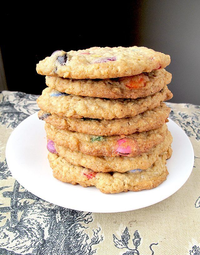 Smartie Oatmeal Cookies are easy, large and in charge delicious cookies!