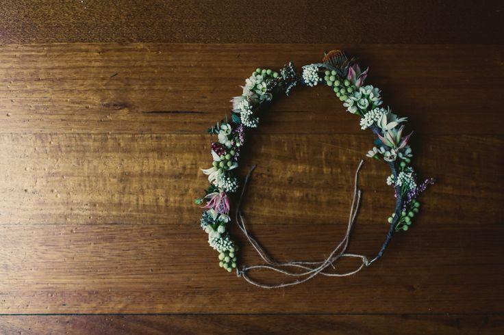 Australian native, rustic, eucalyptus, bride bridesmaid flower crown