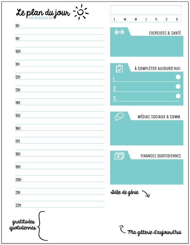 Vous me l'avez demandé, la voici, ma feuille de planification quotidienne à télécharger. Pratique, vous pouvez l'imprimer sur votre imprimante selon vos besoins.