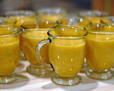 Butternut Squash Soup with Apples and Fresh Sage