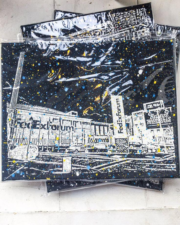 Buy FedEx Forum in Memphis, Tennessee on Canvas, Art by Adam Exelbierd, a Art from Walking Pants Curiosities in Memphis, Tennessee