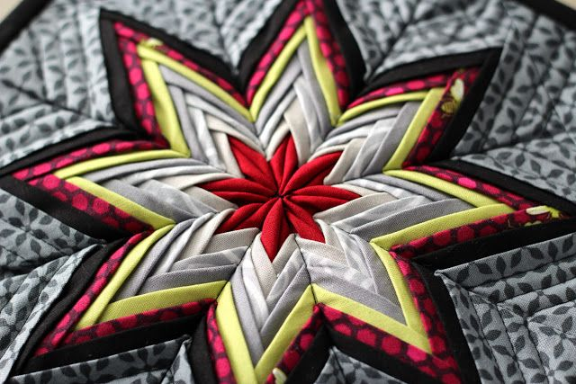Fancy Folded Star I Love The Patterned Fabric In The