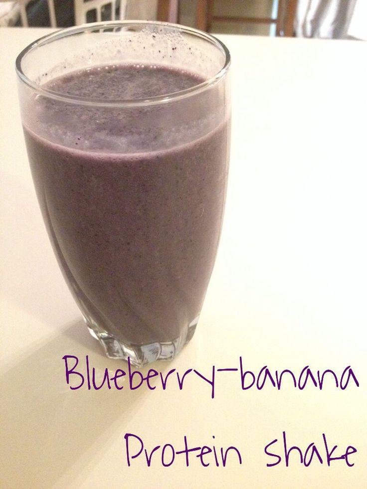 Blueberry banana protein shake recipe below. Amazing! Recipe: 1/2 frozen banana 1 cup frozen blueberries 1 cup silk vanilla almond milk 1 scoop chocolate/vanilla protein powder (I prefer a scoop of chocolate body fortress whey protein) Blend for thirty second or until satisfied with the texture. Add almond milk or more fruit to get the desired consistency.