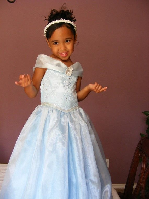Beautiful Baby Blue  Princess Dress for Girl Sizes by DIPdesigns, $79.00