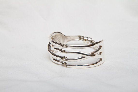 Handgemachte Gabel Armband mit verdrehten Zinken