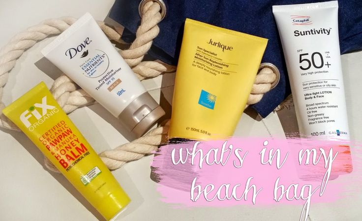 What's in my beach bag? The beauty edition! | hello mandy hello