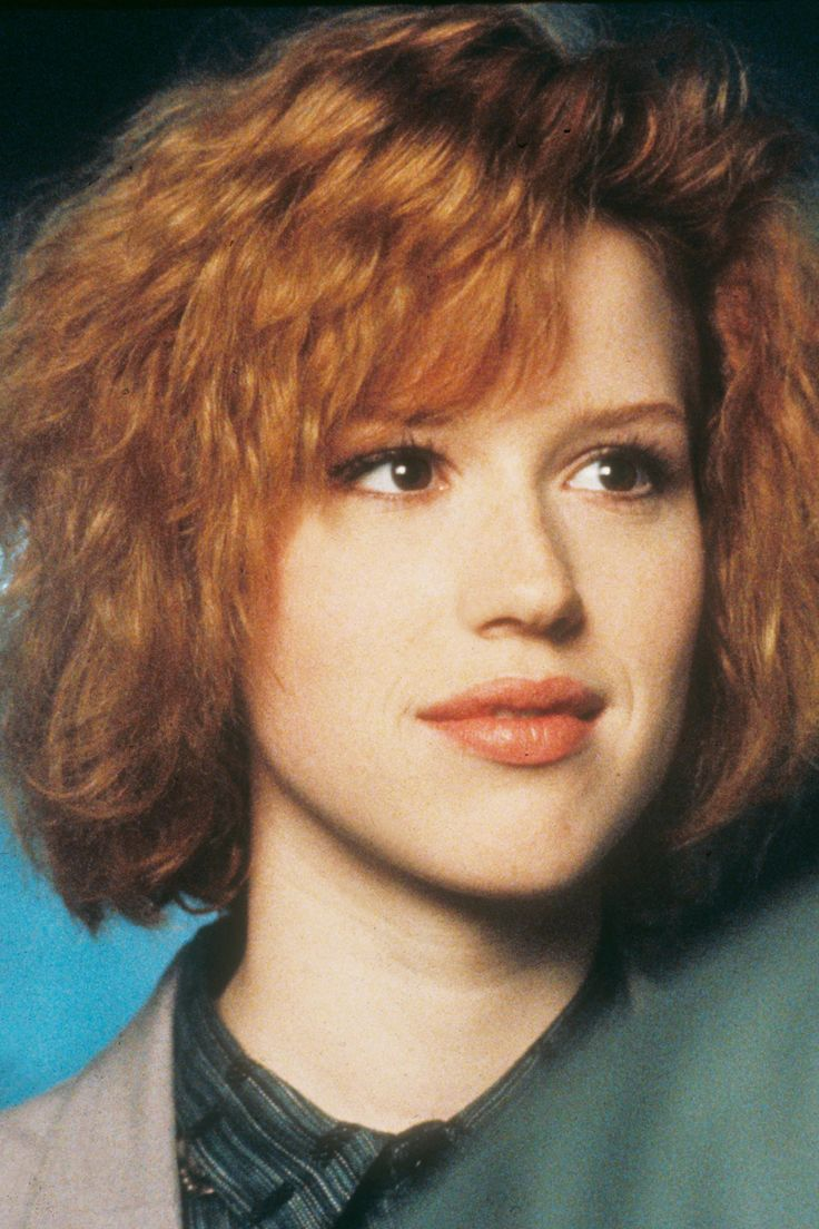 Apricot Lipstick Molly Ringwald's peachy apricot lipstick is just about the prettiest shade we've ever seen. Not to mention the fact that it matches her hair, which we're into. Looks like she brushed out her curls to get this fluffy, voluminous bob shape, and we're digging it.
