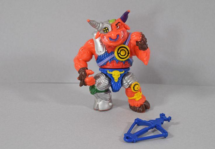 1991 Playmates TMNT Teenage Mutant Ninja Turtles Groundchuck Action Figure #PlaymatesToys