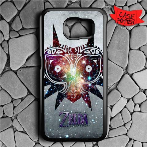 Majora Mask Nebula The Legend Of Zelda Samsung Galaxy S7 Black Case