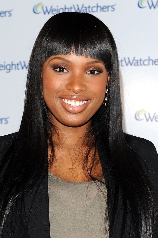 Black Hairstyles Updos Chinese Bang Round Face Shapes