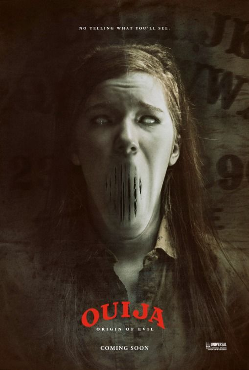 "Ouija: Origin of Evil (2016) Alternate title: Ouija 2 tagline: ""No telling what you'll see."" directed by: Mike Flanagan starring: Henry Thomas, Elizabeth Reaser, Annalise Basso, Alexis G. Zall"