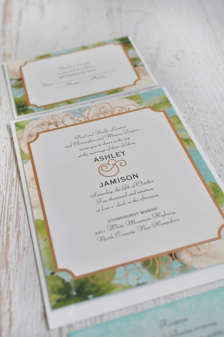 Boho Elegance Foil Invitation 887 best