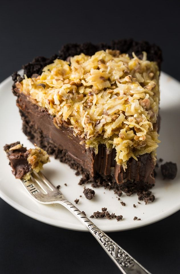 An easy and indulgent recipe for No-Bake German Chocolate Pie! Once you try this, you'll want to make it for all of your Summer parties and events!
