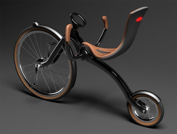 80s Inspired Cruiser (1880s that is…).    Break out those handlebar mustaches ladies and gents, it's time for some old-school, two wheeled fun. Sit back and relax as the ONEYBIKE by Peter Varga takes you on a journey that harkens a simpler time. This design features a folding mechanism for easy storage and recently participated in the 14th International Bicycle Design Competition in Taiwan.
