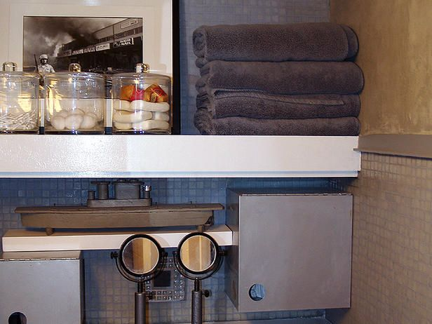 Floating shelves are a wonderful, clean look for a bath.  I have them in our downstairs bath and love them!