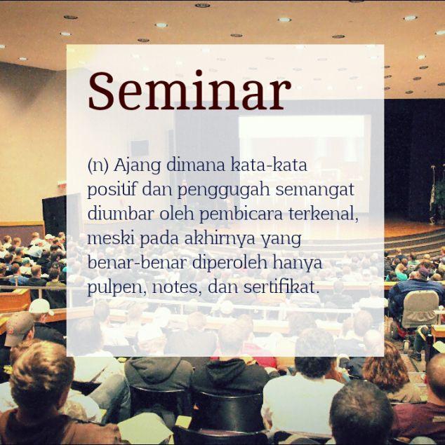 Definisi kata: Seminar