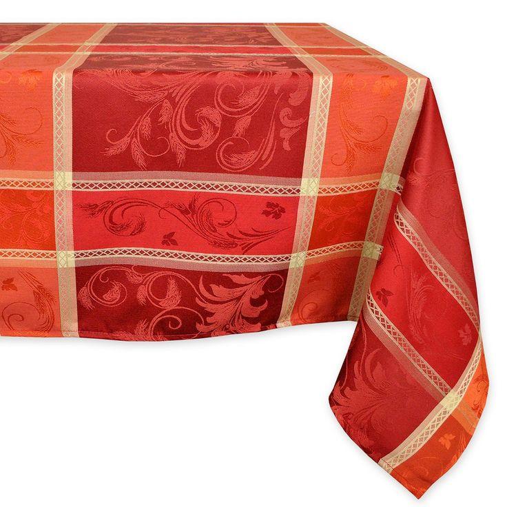 "Orange Tablecloth (52""x70"") - Design Imports"