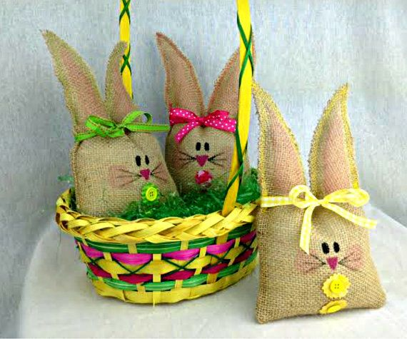 The 25 best easter basket delivery ideas on pinterest baby egg easter bunny burlap easter bunny easter basket by sherisewsweet negle Gallery