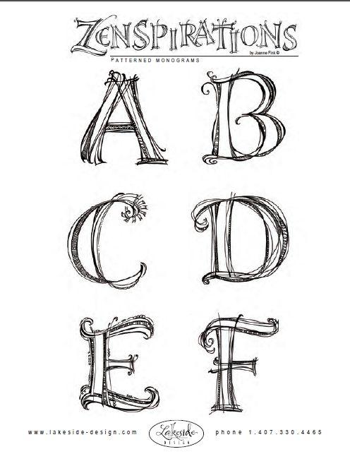 from http://www.sakuraofamerica.com/zenspirations monograms