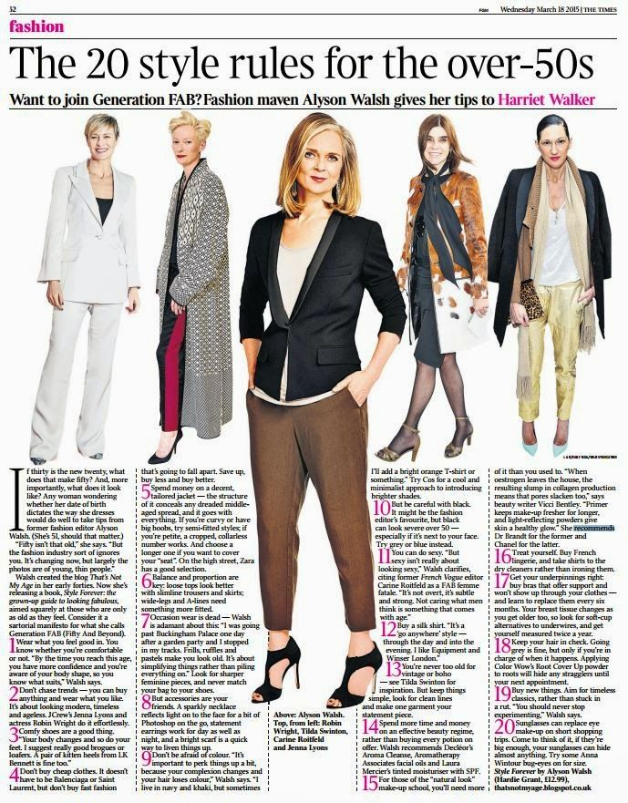That's Not My Age: Style Forever In The Times