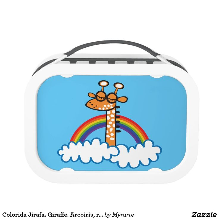 Colorida Jirafa. Giraffe. Arcoiris, rainbow. Producto disponible en tienda Zazzle. Product available in Zazzle store. Regalos, Gifts. Link to product: http://www.zazzle.com/colorida_jirafa_giraffe_arcoiris_rainbow_lunch_box-256758449982270245?CMPN=shareicon&lang=en&social=true&rf=238167879144476949 #lonchera #LunchBox #jirafa #giraffe