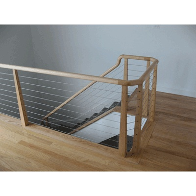 Best Custom Stair Rail With Maple Handrails And Tapered Maple 400 x 300