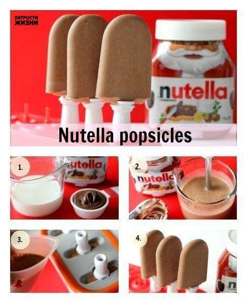 Мороженое из Нутеллы<br><br>Ингредиенты:<br><br>➕350 г (360 мл) шоколадной ореховой пасты<br>➕410 г…