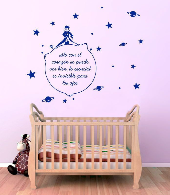 Mejores 33 im genes de paredes decoradas en pinterest - Vinilo infantil el principito ...