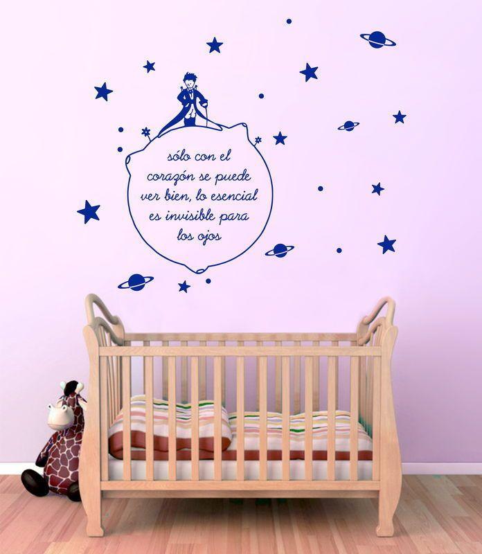 VINILO DECORACION PARED - WALL STICKER - INFANTIL- EL PRINCIPITO -96cm x 80cm | eBay